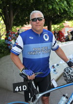 Jack riding in Police Unity Tour